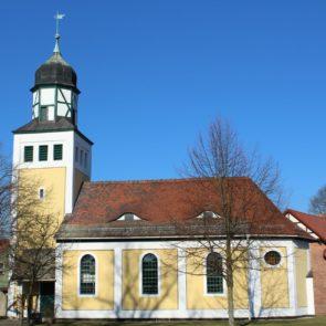 Sanierung Fassade Kirchenturm nach historischem Vorbild der Kirche Alt Bork (2017)